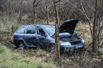 samochód po kolizji w Witnicy